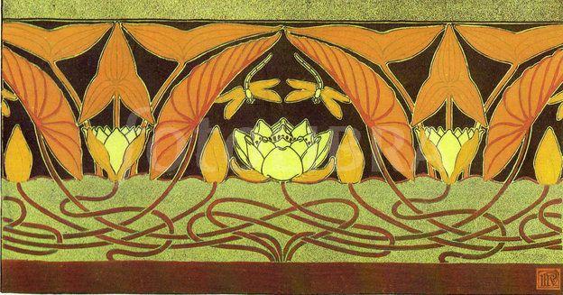 17 Best ideas about Art Nouveau Wallpaper on Pinterest
