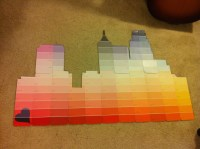 paint swatch art | Raleigh skyline | DIY | Pinterest ...