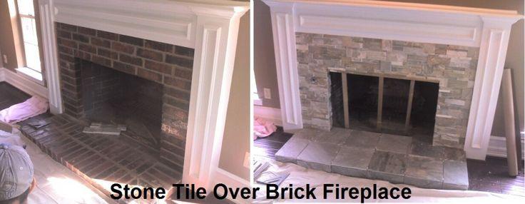 Tiling Over Brick Fireplace