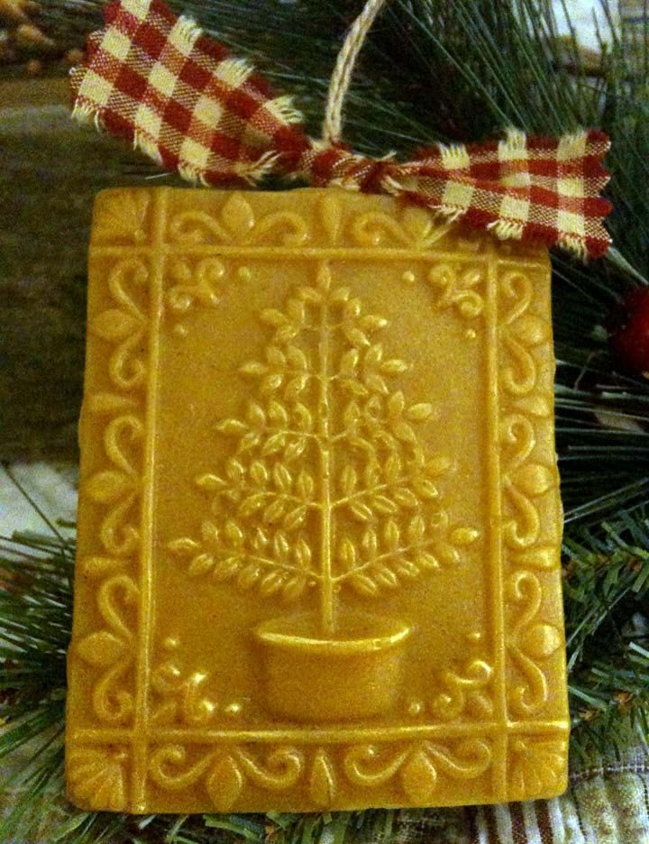 how to make beeswax ornaments with springerle cookie molds  Days of Yore  Pinterest  Trees