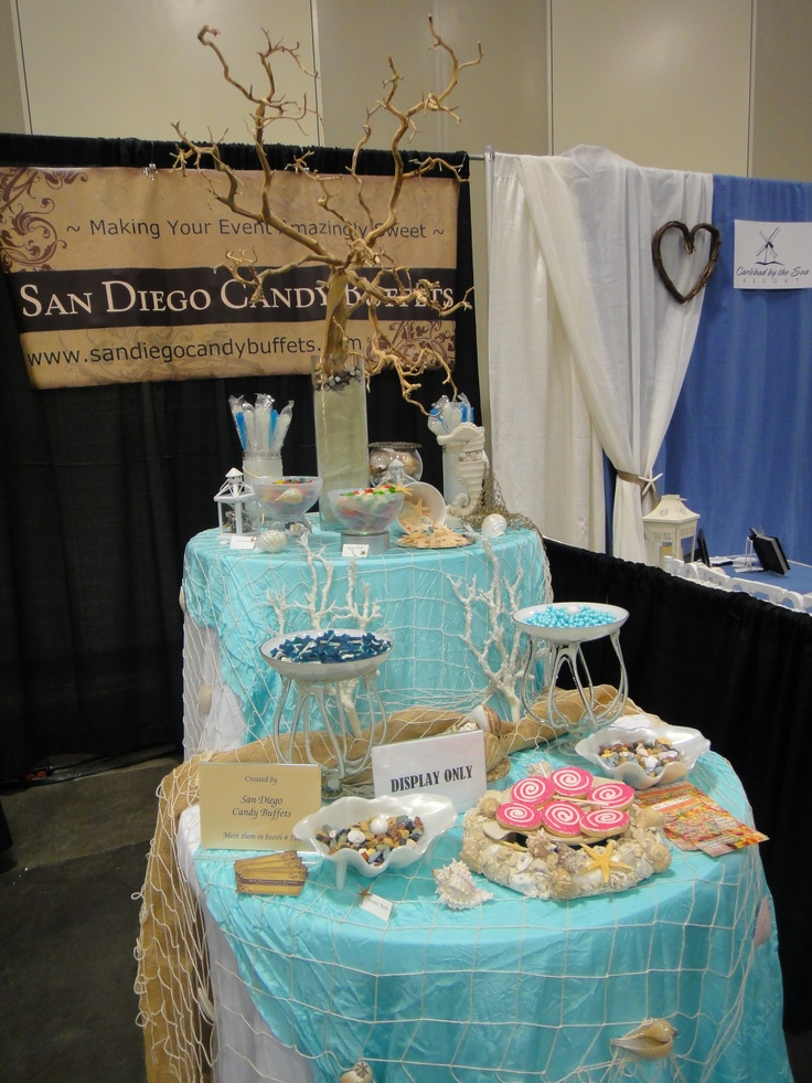 Beachthemed candy bar San Diego Candy Buffets 920200