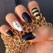 birthday nails. stiletto nails