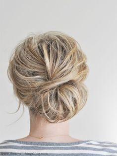 Die Besten 25 Hochsteckfrisuren Mittellanges Haar Ideen Auf Pinterest