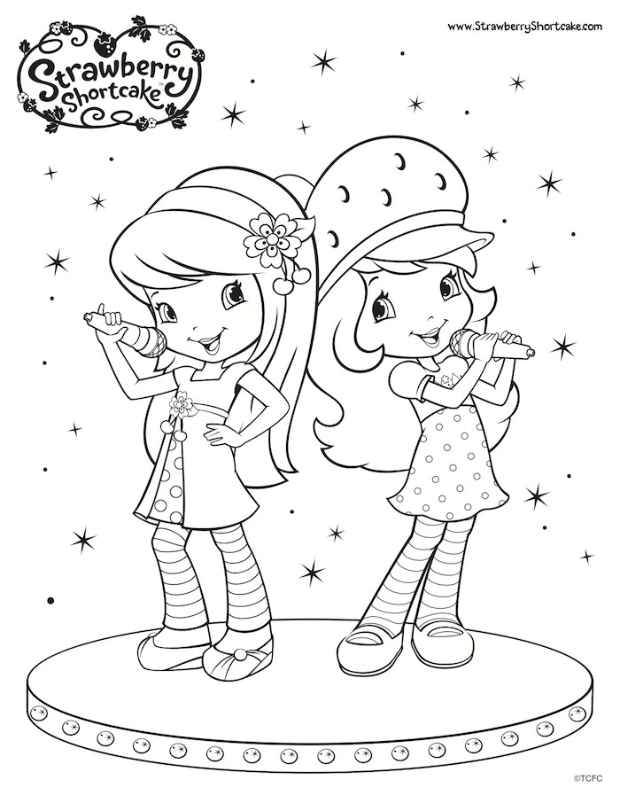 1000+ images about Coloring-Strawberry Shortcake on