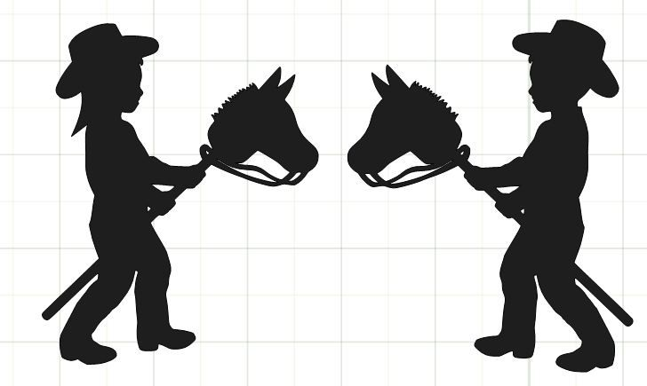 Stick Figure Boy And Girl ClipArt Best Cowboys