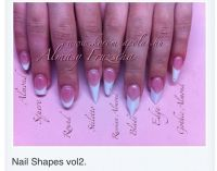 Nail Shapes. The pointy nails are trending right now. I ...