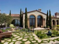 More modern use of Italian cypress | Tuscan Courtyards ...