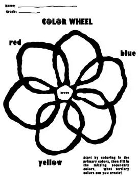 1000+ ideas about Color Wheel Worksheet on Pinterest