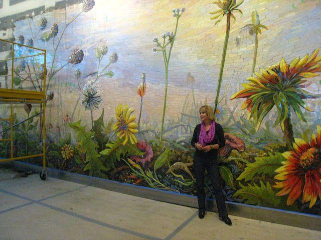 LOVE EVOLUTION  Dallas Airport mosaic mural  Mosaic