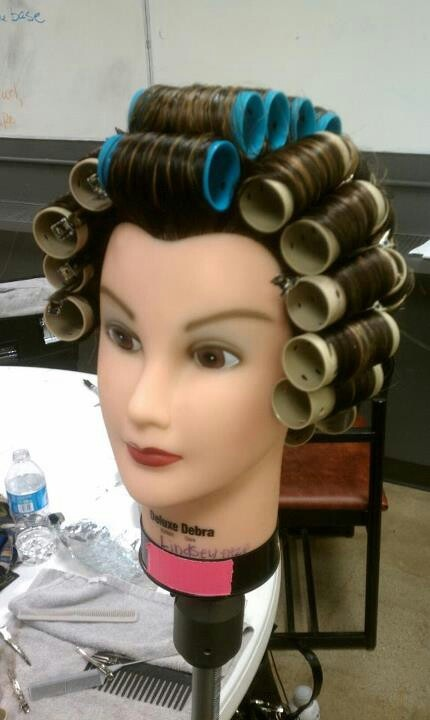 First Roller Set My Cosmetology Crafts And Other