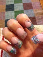lipstick bling acrylic nails