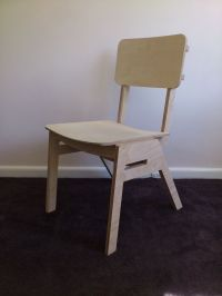 Stackable no-glue, no-screws CNC-cut plywood chair with ...