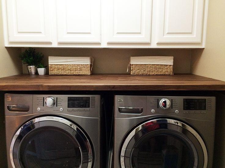 Butcher Block Countertop in Laundry Room  Home