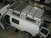 Aluminess Roof Rack with Dual Solar panels