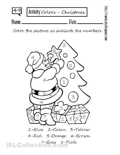 Free Printable Color By Numbers Worksheets #20 of 20