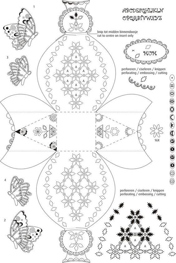 17 Best images about Pergamano Patterns on Pinterest