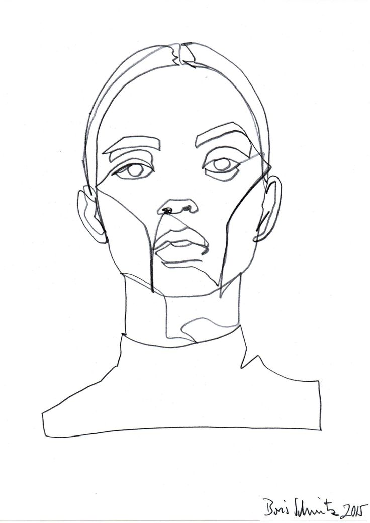Blind Contour Drawing Famous Artists