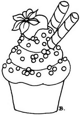59 best images about outlines // CUPCAKES on Pinterest