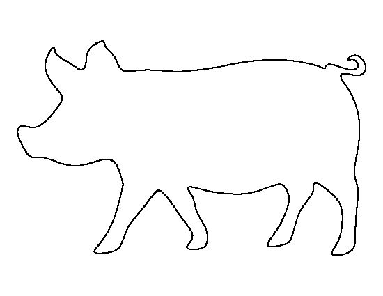 Pig pattern. Use the printable outline for crafts