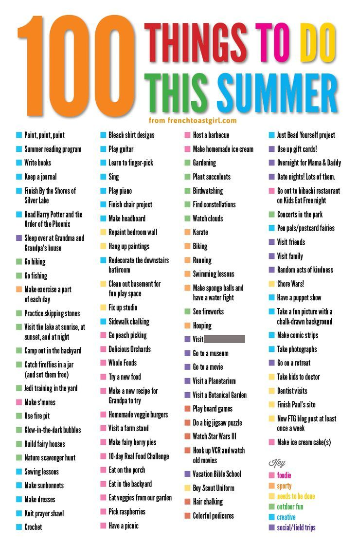 Make your own 100 Things to do this summer bucket list httpwwwfrenchtoastgirlcomweblog