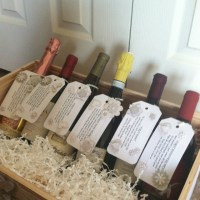 Engagement party/bridal shower gift: Wine crate decorated ...
