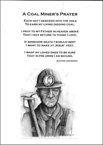 Prayer and Coal miners on Pinterest