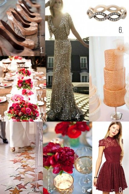 Favorite Fall Wedding color palette Burgundy and Rose
