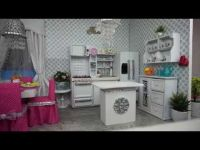 American Girl Doll Kitchen and Dining Room Tour - YouTube ...