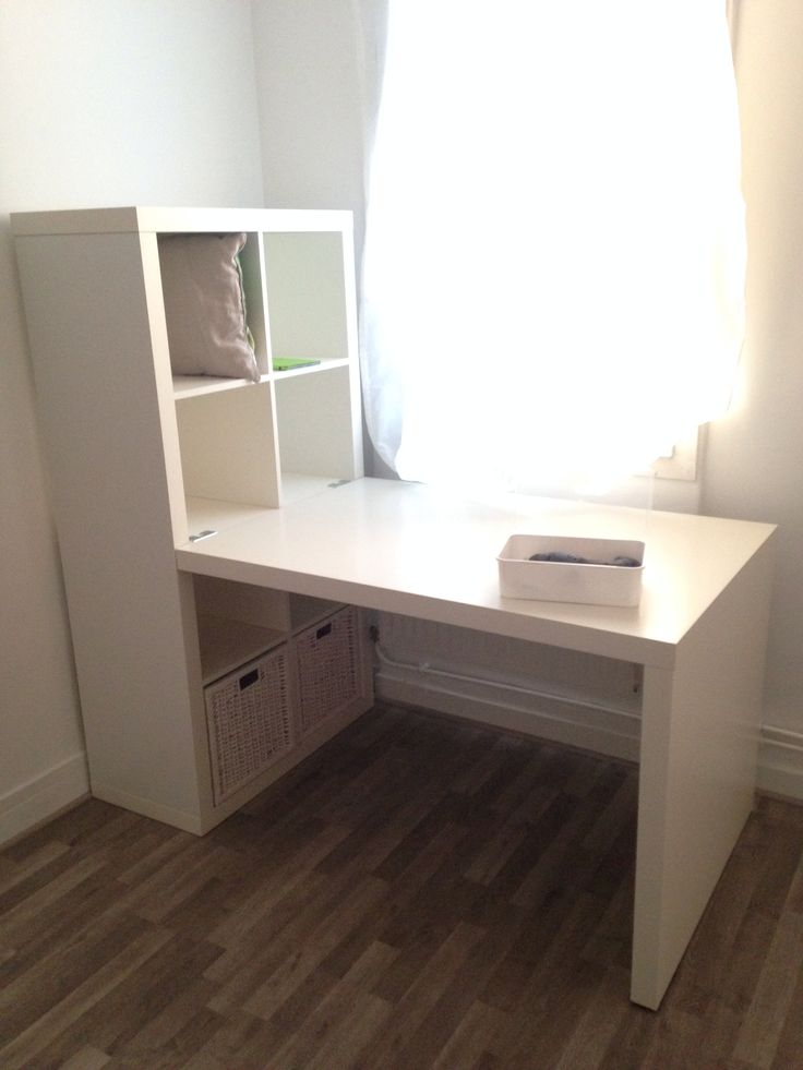 Ikea desk expedit  Homeschool room ideas  Pinterest