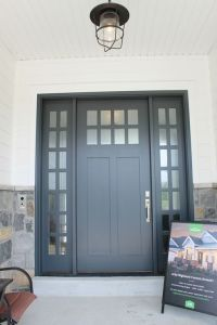 Exterior door paint color: Midnight Blue by Benjamin Moore ...