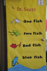 Dr. Seuss One Fish Two Fish | Classroom Door Decorations ...