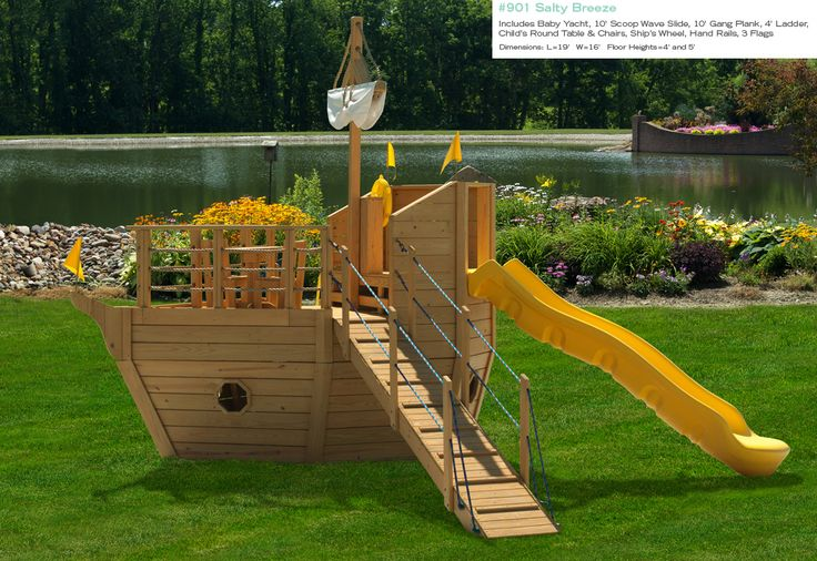 Free Pirate Ship Playset Plans  Woodworking Projects & Plans
