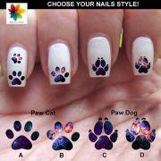 cat paw nail print decal