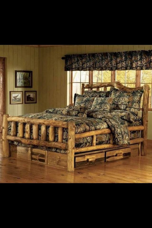 12 best images about Log cabin beds on Pinterest  Rustic
