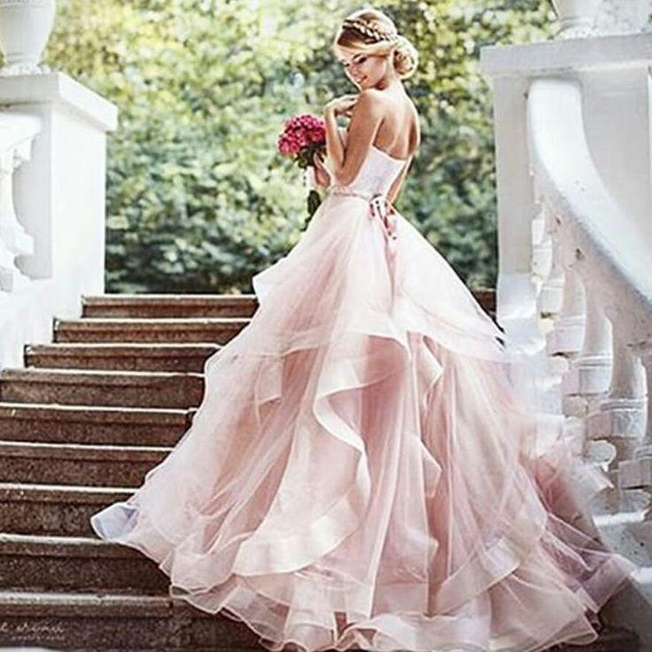 25 best ideas about Blush pink wedding dress on Pinterest