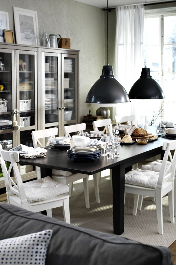 325 best Dining Rooms images on Pinterest  Dining room Ikea ideas and Live