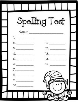 18 best images about spelling test forms on Pinterest