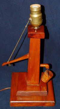 """Vintage Wooden Water Pump Lamp 13"""" plus Tall - Handcrafted ..."""