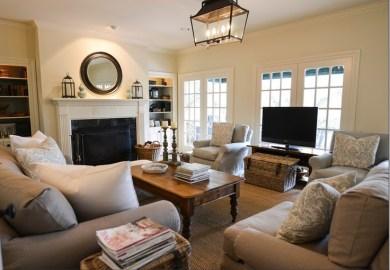Rectangle Living Room Furniture Arrangement