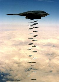 "B-2 Stealth ""Carpet Bombing"" 