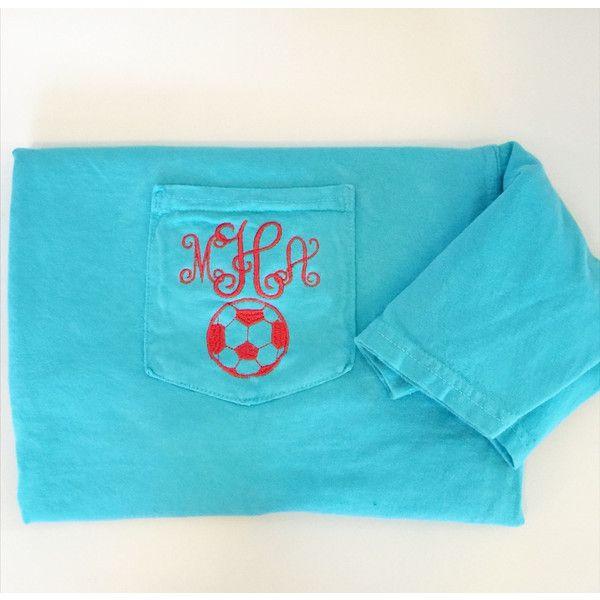 monogrammed comfort colors pocket tee short sleeve by elizabs