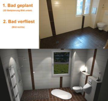 Einfacher Badezimmerplaner