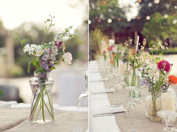 Jam Jar Wedding Flowers - Google Search