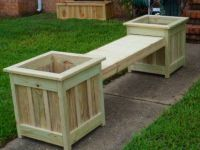 DIY bench and planter combination. | Patio | Pinterest ...