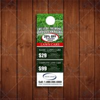 4x 11 Door Hangers for Landscaping Business by The Lawn ...