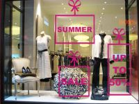 summer retail window ideas | Wrap your SALE up as a gift ...