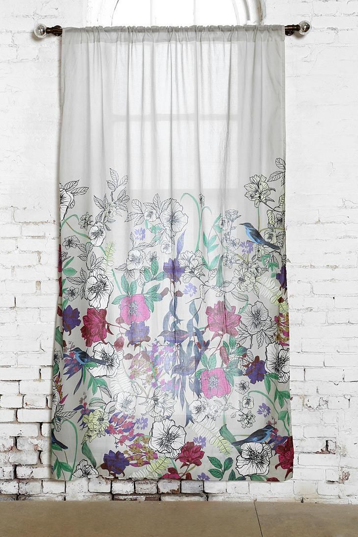 cute living room curtains neutral plum & bow forest critter curtain #urbanoutfitters | # ...