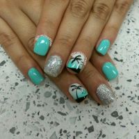 17 Best ideas about Palm Tree Nails on Pinterest
