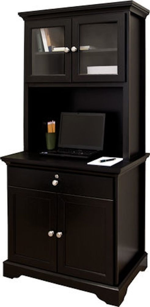 Kitchen Armoire Hutch Storage Microwave Stand Wood Cabinet
