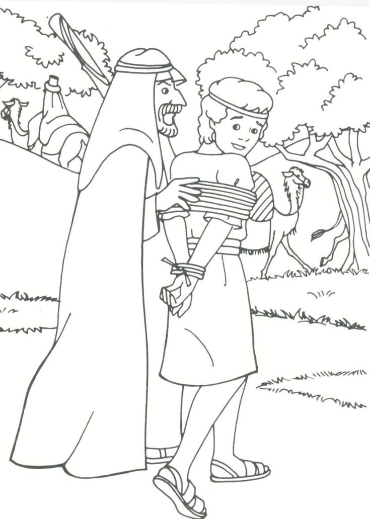 Coloring Pages Joseph The Slave Coloring Pages